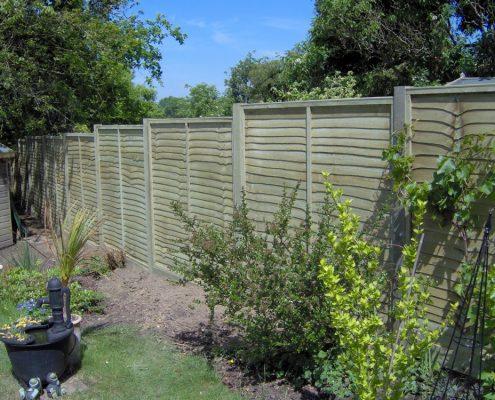 Wooden Panel Garden Fencing