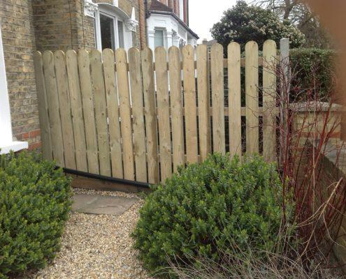 Timber Palisade Garden Fencing