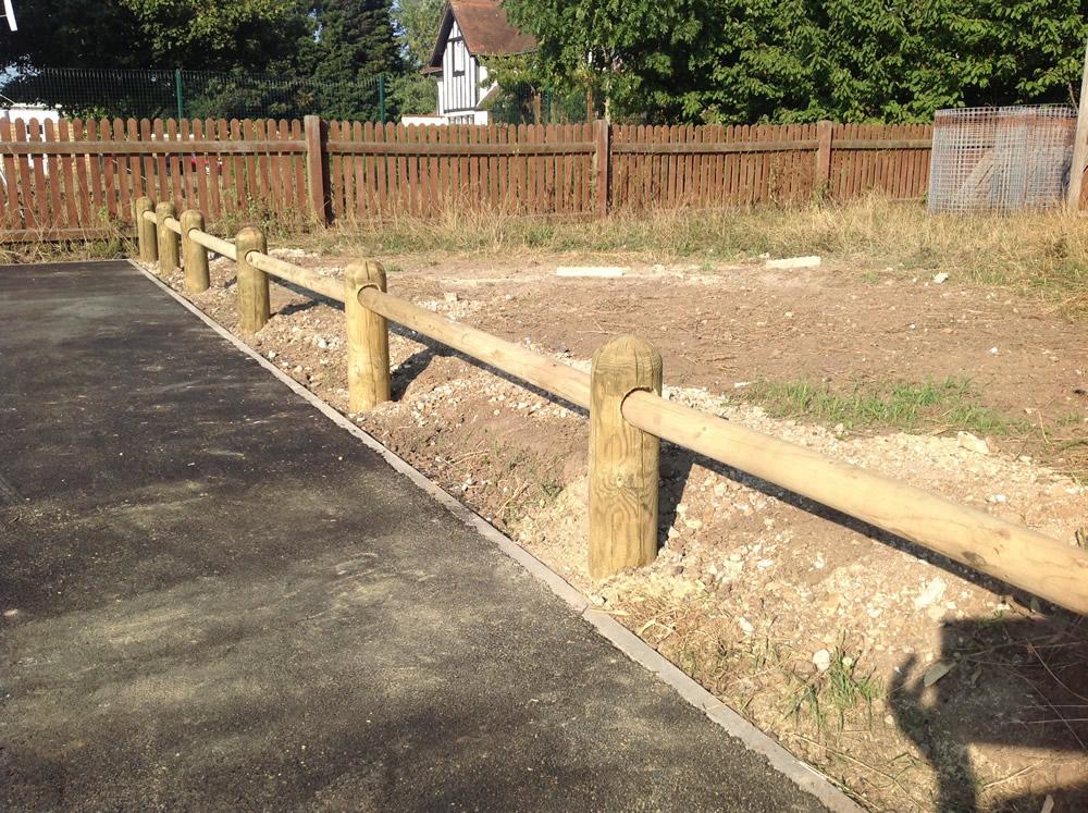 Knee Rail Fencing Kent