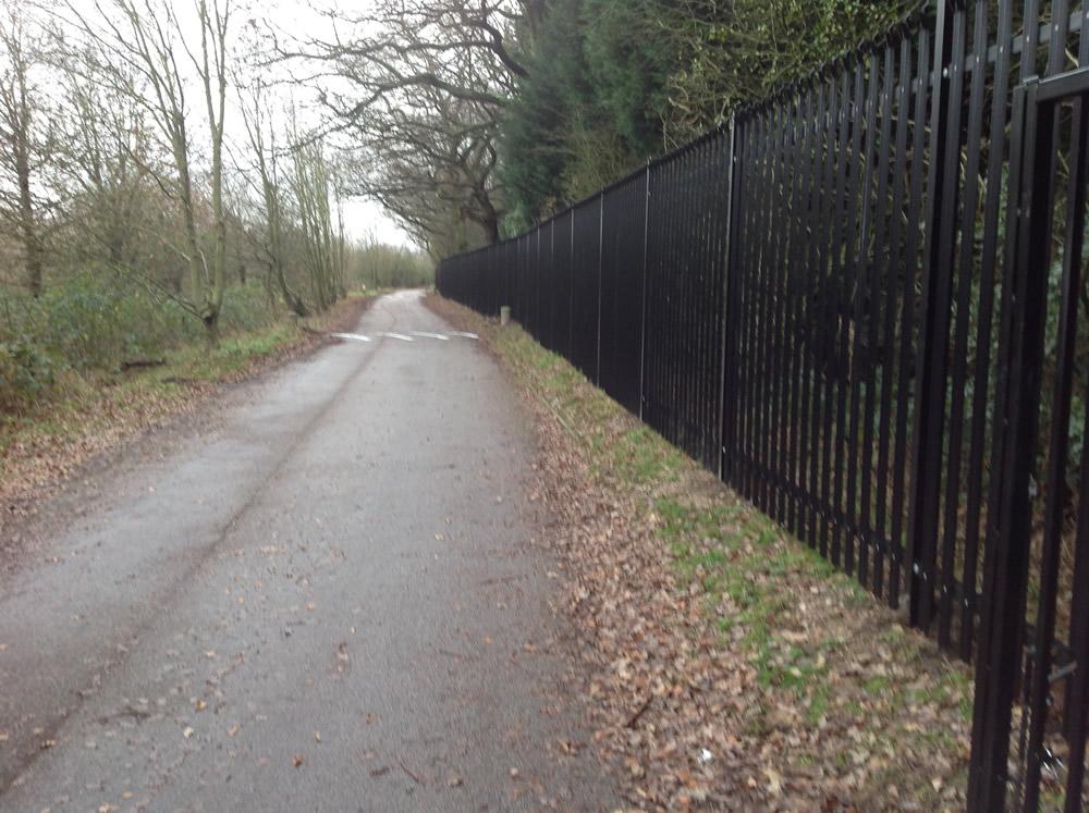 Steel Palisade Security Fencing Kent