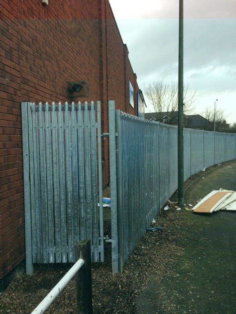 Steel Palisade Security Fencing Kent