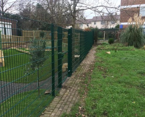 Security Fencing – Rigid Mesh